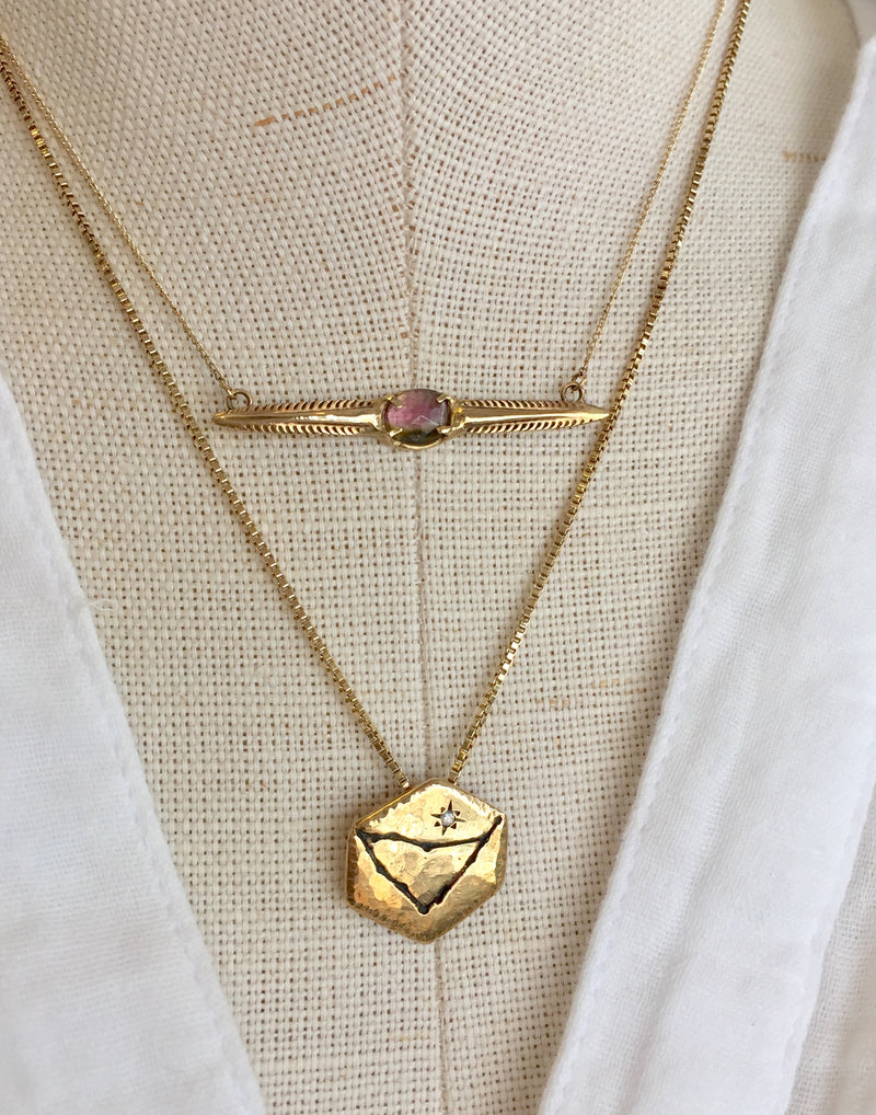 CONSTELLATION NECKLACE, GOLD + DIAMOND