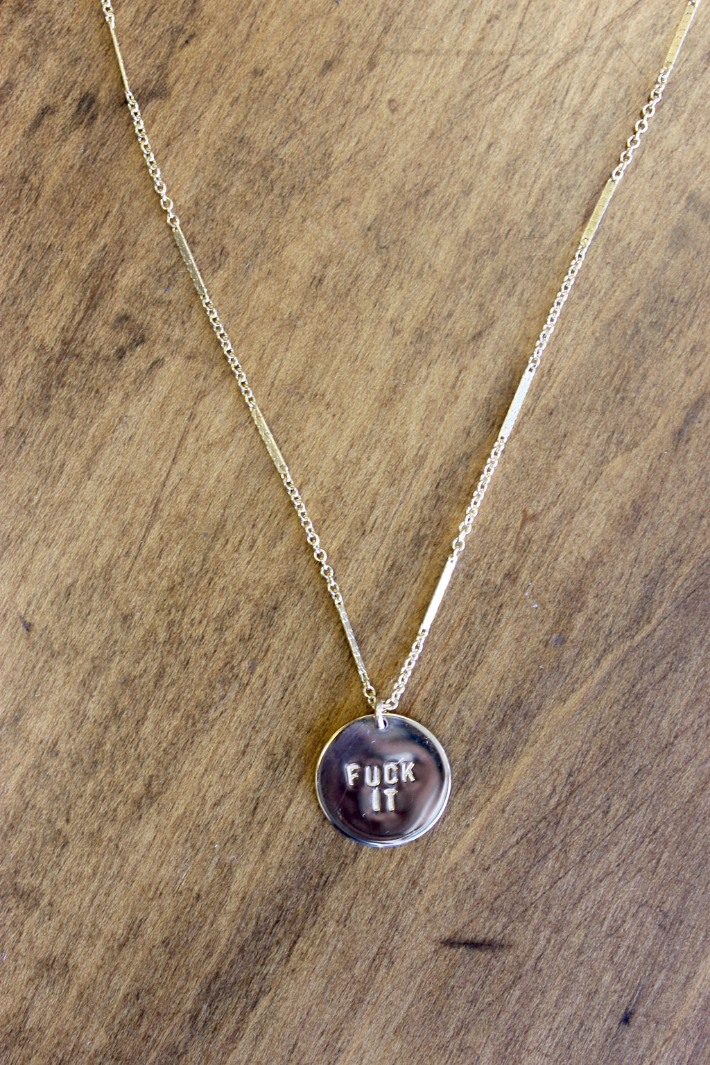 FUCK IT COIN NECKLACE