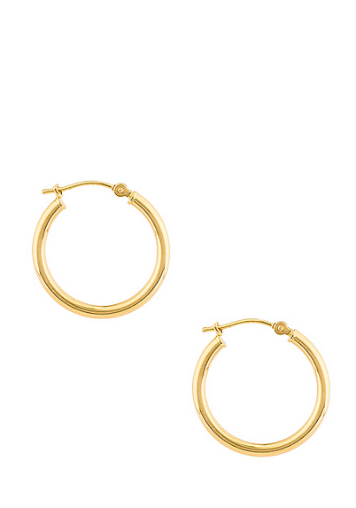 NY MEDIUM HOOP EARRINGS IN 14K