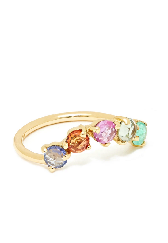 INDIRA RING WITH RAINBOW SAPPHIRES