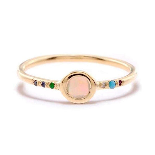 DAYDREAM RING with OPAL + MIXED STONES