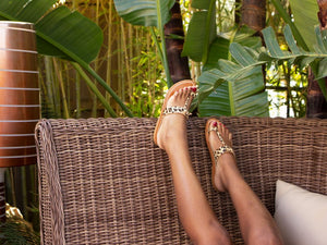 K. JACQUES GANGES SANDAL IN LEOPARD