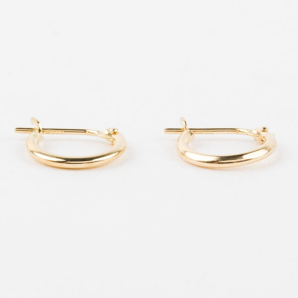 NY TINY HOOP EARRINGS IN 14K