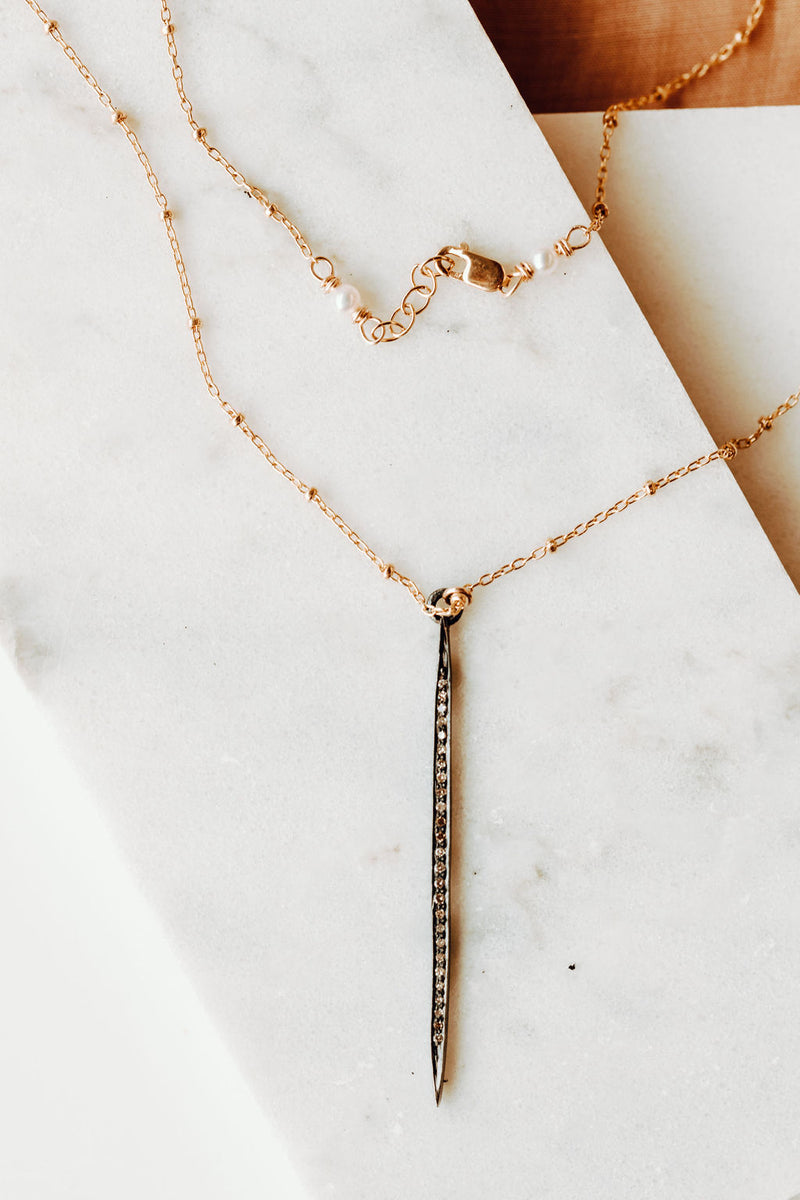 DAGGER NECKLACE // PAVE DIAMOND
