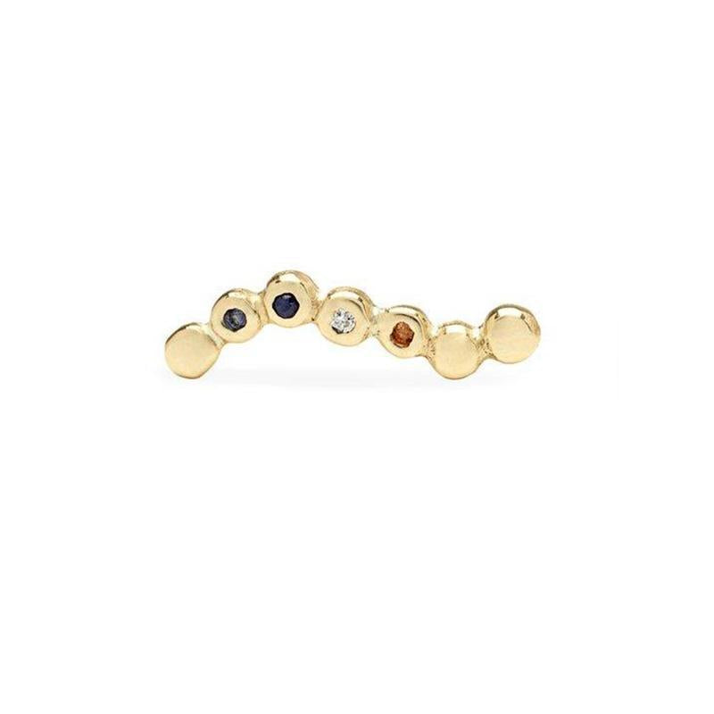 SCOSHA WAVE STUDS IN 10K AND MIXED STONES