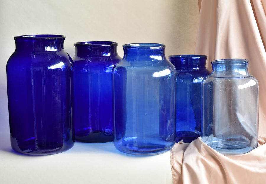 Blue Hungarian Vases