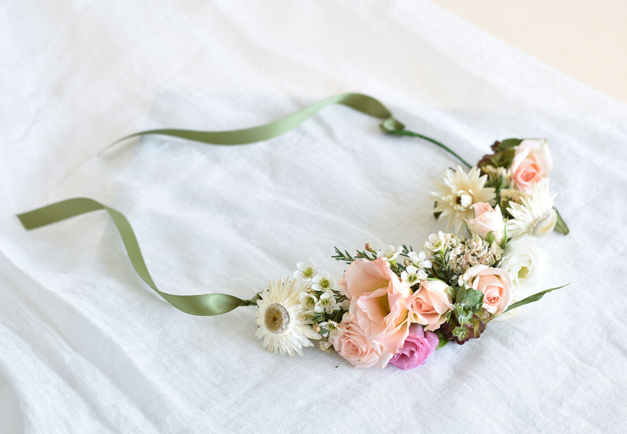 Flower Crown with ribbon