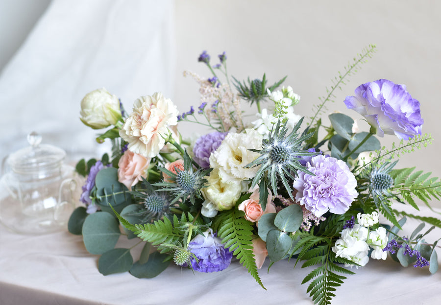 Pastel table arrangement