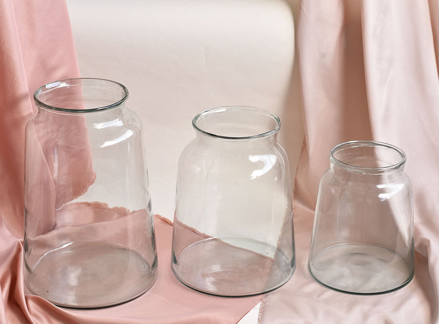 3 size Clear Vase