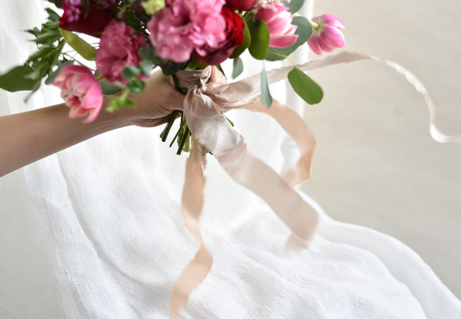 Silk Dyed Ribbon Bouquet