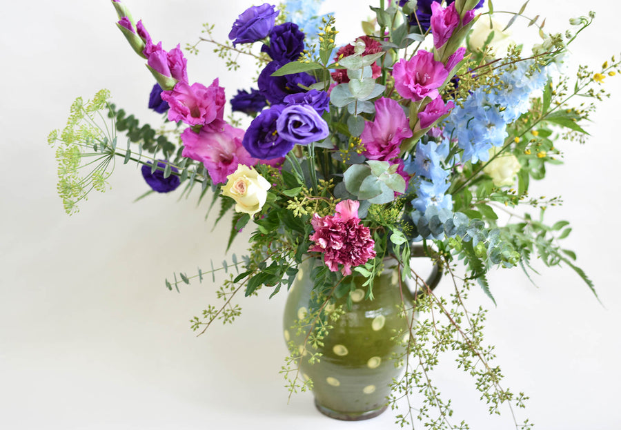 Bright Flowers in a Jug