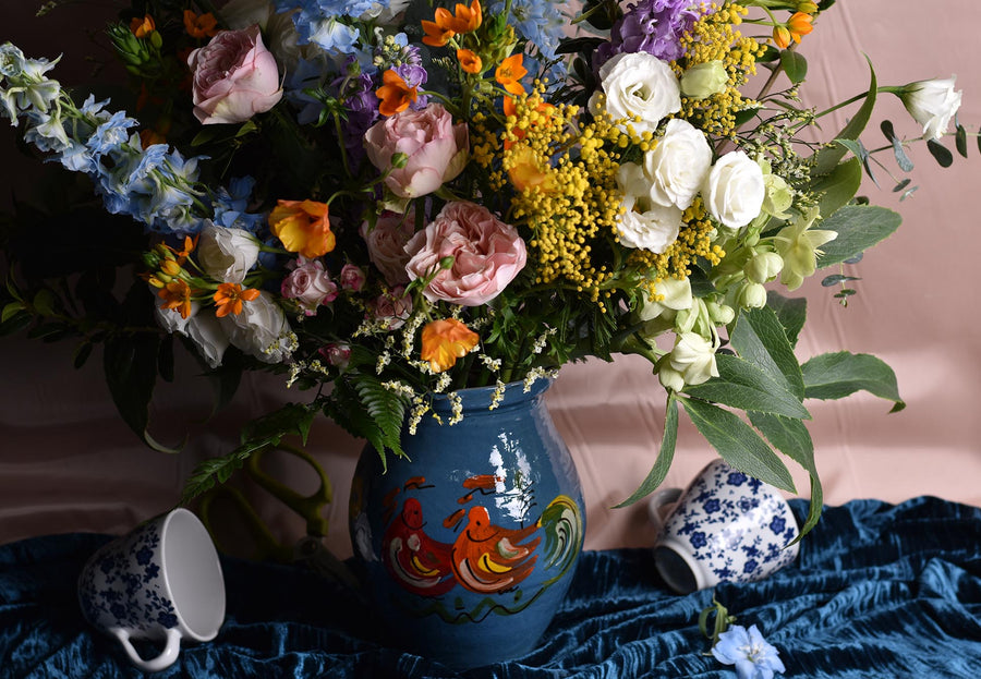 Flowers in a Ceramic Jug - 22nd April