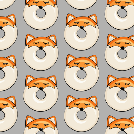 Pre-Order : Donut Foxes on Grey - Dog Bandana