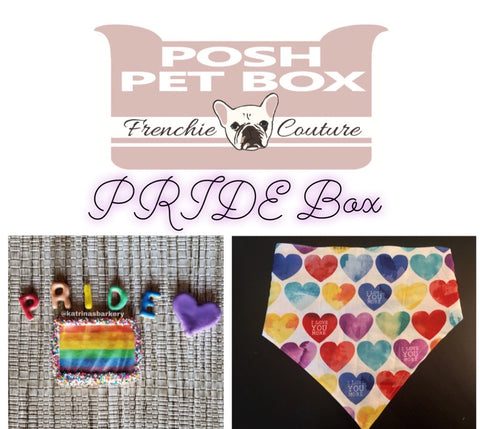 Posh Pet Box - PRIDE Hearts - Pride Month Edition - Dog Bandana and Treat Set