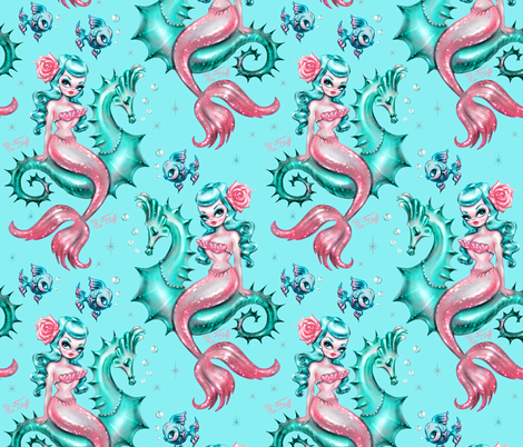 Pre-Order : Mermaid Print: Mermaid Lounge - Dog Bandana
