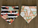 Best Friends Collection - Bad & Boujee -  Reversible Dog Bandana - Cat Bandana - Best Friends Day - ROSE GOLD