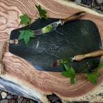 Black Maple Leaf Platter