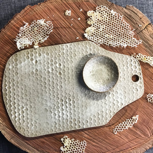 White Matte Medium Spotty Platter