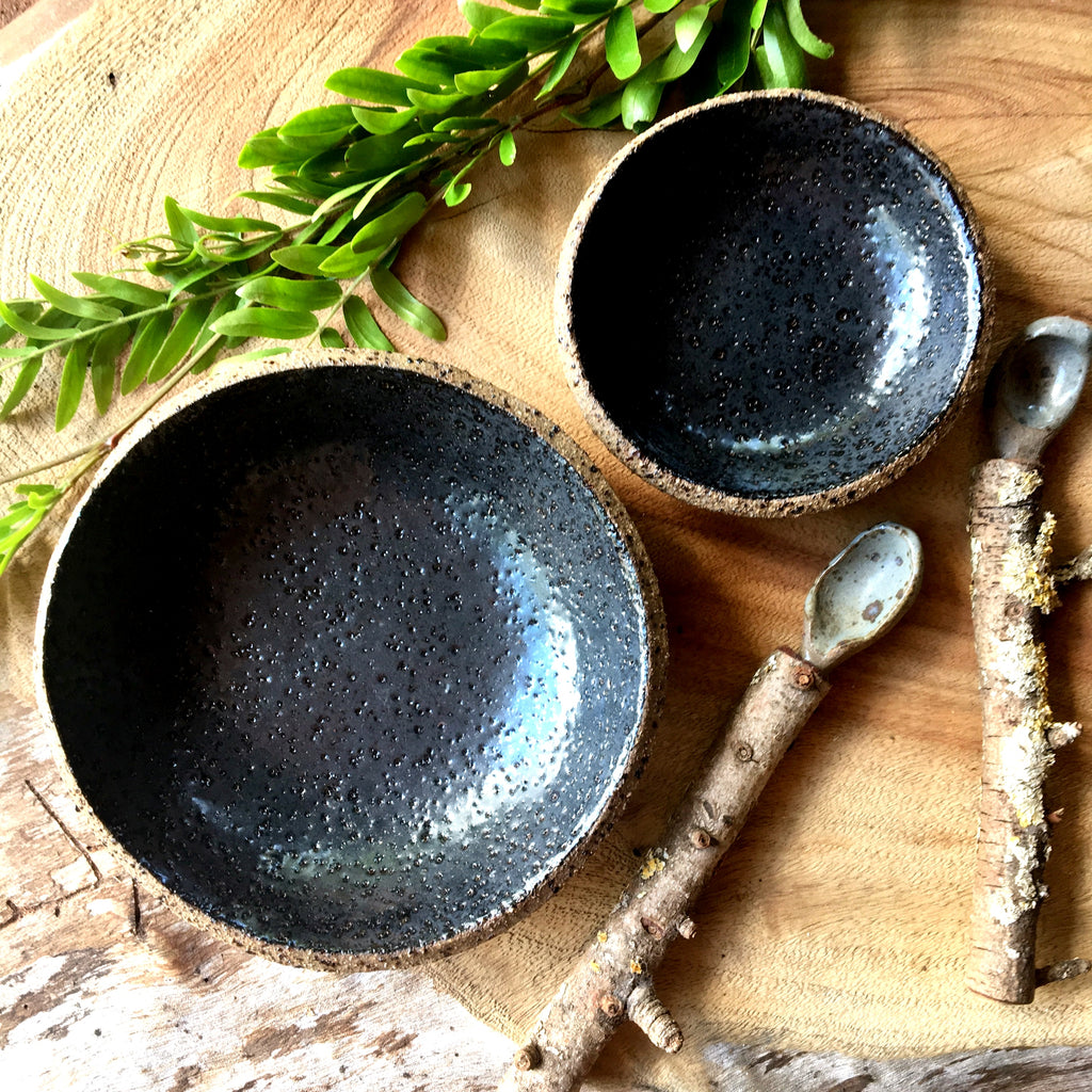 Black Speckled Bowls
