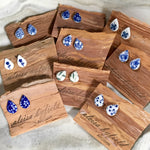 Decorative Tear Drop Porcelain Stud Earrings