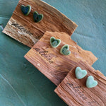 Heart Shaped Coloured Porcelain Stud Earrings