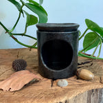 Black Raku Stoneware Oil Burner