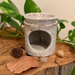 White Speckled Stoneware Oil Burner