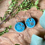 Shipwreck Round Porcelain Dangle Earrings