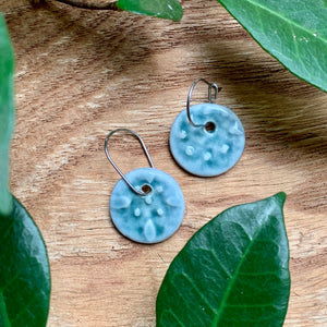 Rainforest Starry Night Round Porcelain Dangle Earrings