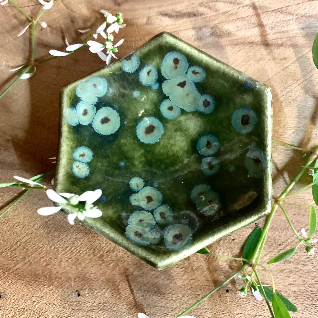 Olive Float Hexagon Bowl