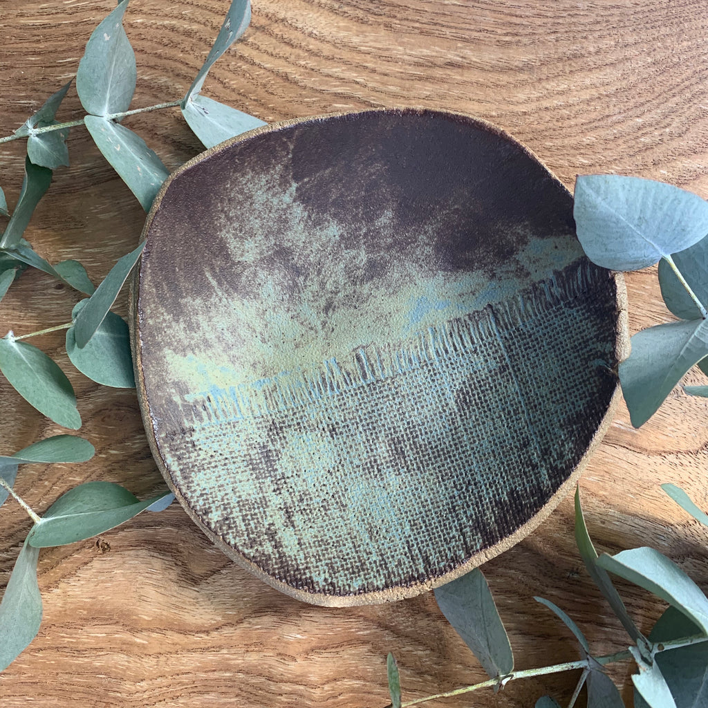 Ironstone Earth Hessian Print Bowl