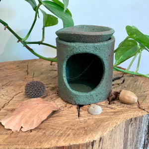 Jade Speckled Stoneware Oil Burner
