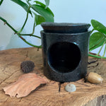 Black Speckled Stoneware Oil Burner