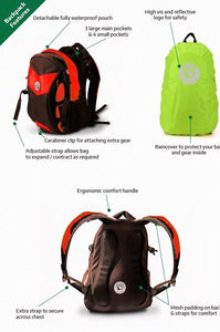 Amphibia Backpack Röd