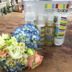 Posy of Flowers & Made4Baby Deluxe Gift Set