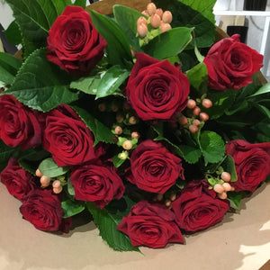 12 Red Roses - Bouquet On SPECIAL