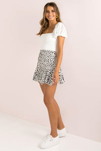 Layered Frill Skirt / Leopard