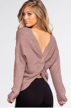 Load image into Gallery viewer, Twist Me Up Sweater in Cozy Lilac