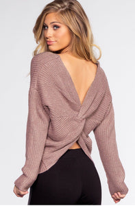 Twist Me Up Sweater in Cozy Lilac