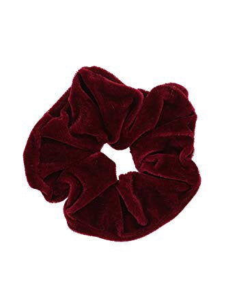 Velvet Scrunchie - Dark Red