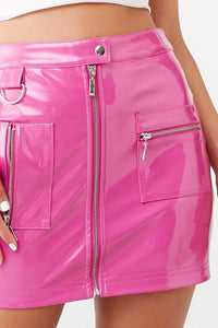 Barbie Pink Leather Skirt