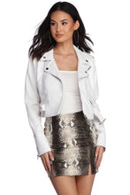 Load image into Gallery viewer, White Biker Jacket