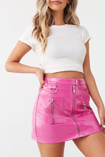 Load image into Gallery viewer, Barbie Pink Leather Skirt
