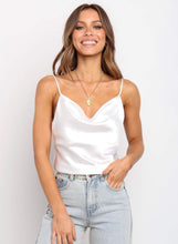 Load image into Gallery viewer, Stella Silk Tank Top - Ivory