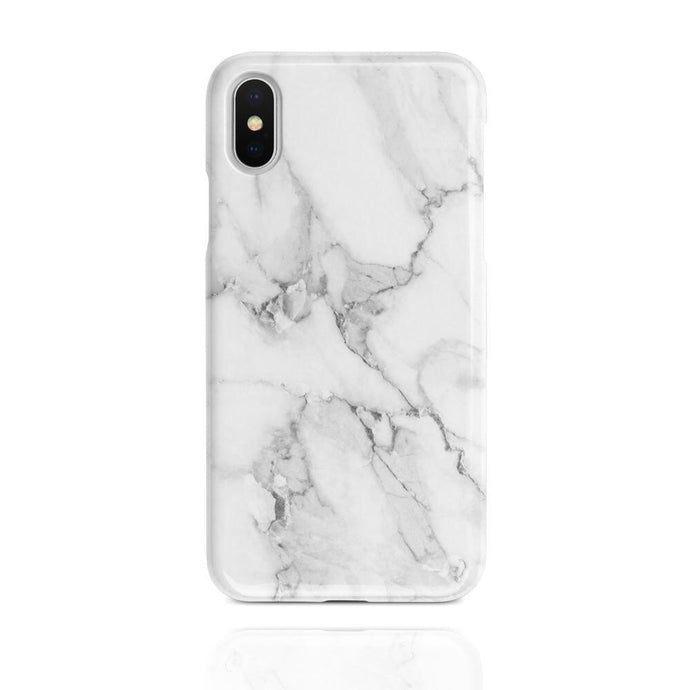 White marble rubber iPhone case
