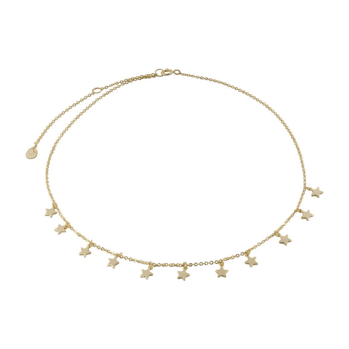 Star Choker Necklace - Gold