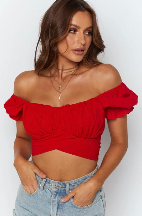 Malia Twist Top / Red