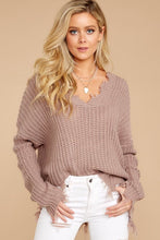 Load image into Gallery viewer, Distressed Knit Sweater / Beige