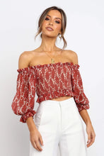Load image into Gallery viewer, Alice Smocked Top / Red Wine