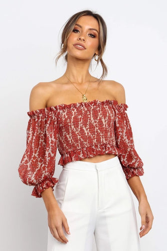 Alice Smocked Top / Red Wine